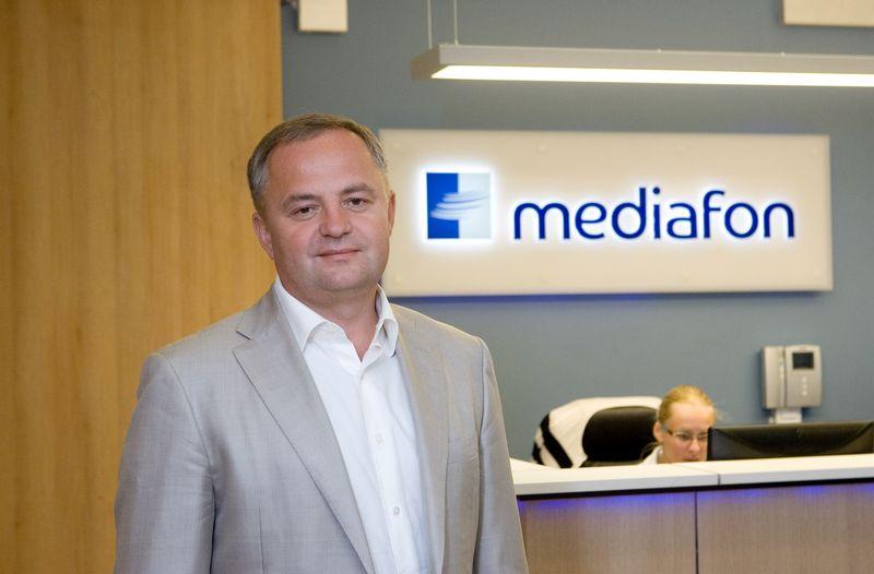 """Arūnas Babrauskas, telekomunikacinių paslaugų UAB """"Mediafon"""" generalinis direktorius: """"Laimėtojai esame mes, taigi užsakovas turėtų pasirašyti sutartį su mumis. Tikime, kad Ukraina yra teisinė valstybė ir tai bus padaryta."""" Juditos Grigelytės (VŽ) nuotr."""