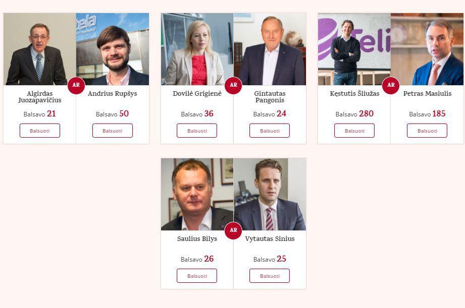 """VŽ skaitytojai renka """"Metų CEO"""": liko 8 dalyviai"""