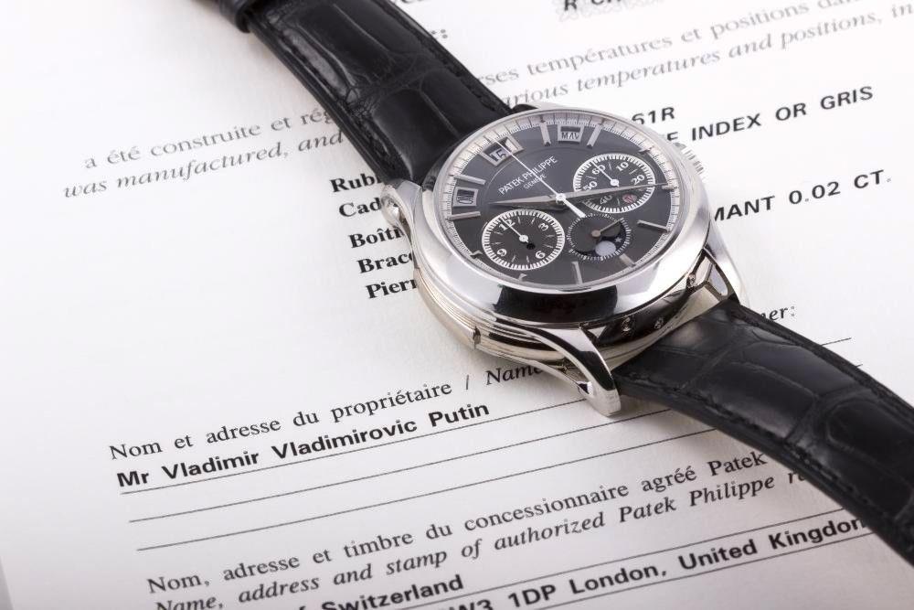 Parduodamas brangiausias Vladimiro Putino laikrodis