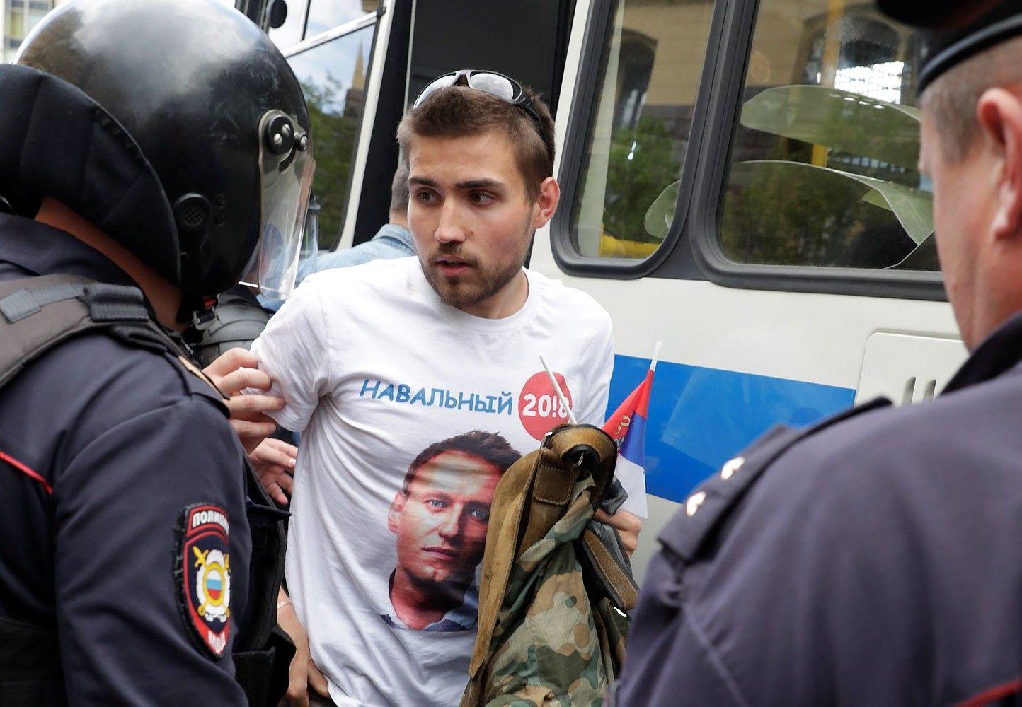 Protestai Rusijoje: sulaikytas Navalnas ir šimtai jo bendražygių