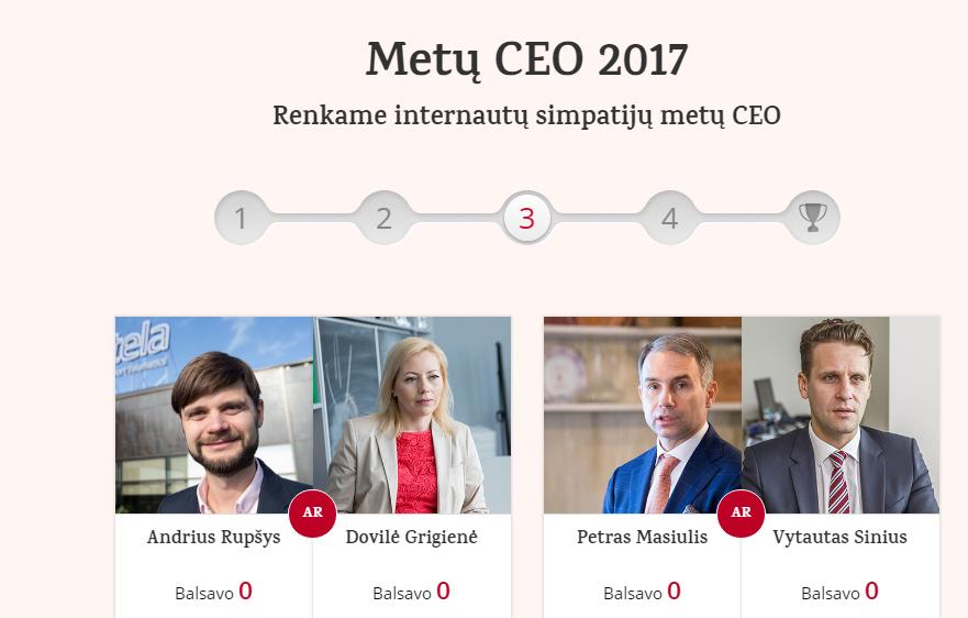"""VŽ skaitytojai renka """"Metų CEO"""": liko 4 vadovai"""