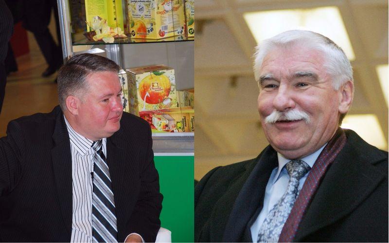Iš kairės: Robertas Pažemeckas ir jo tėvas Algirdas Pažemeckas. VŽ ir BFL fotomont.