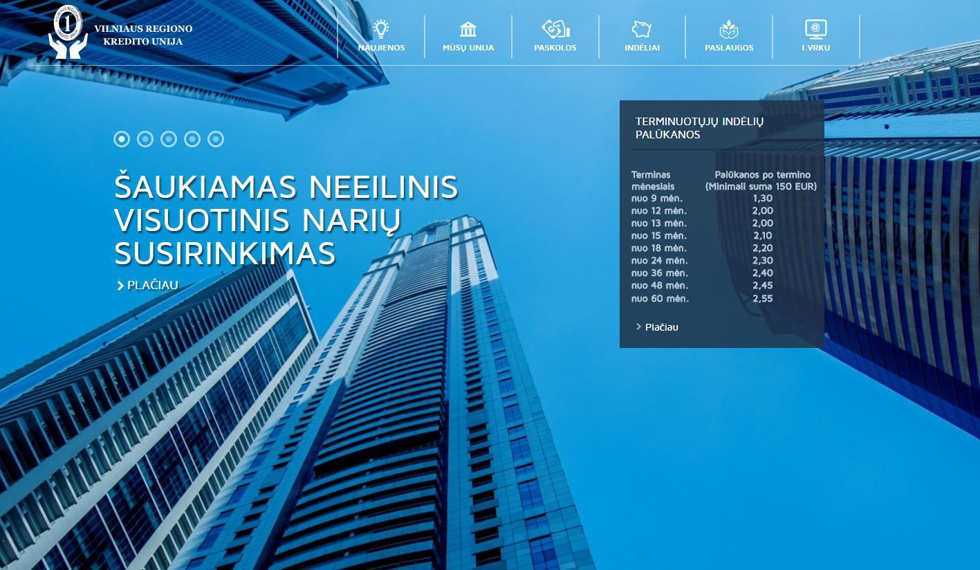 Vilniaus regiono kredito unija ruošiasi virsmui į banką