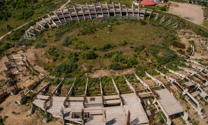 Nacionalinio stadiono statyba yra vienas iš stringančių koncesijos projektų pavyzdžių. Vladimiro Ivanovo (VŽ) nuotr.