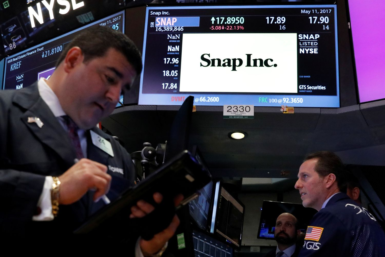 """""""Snap"""" akcijos krito iki IPO kainos"""