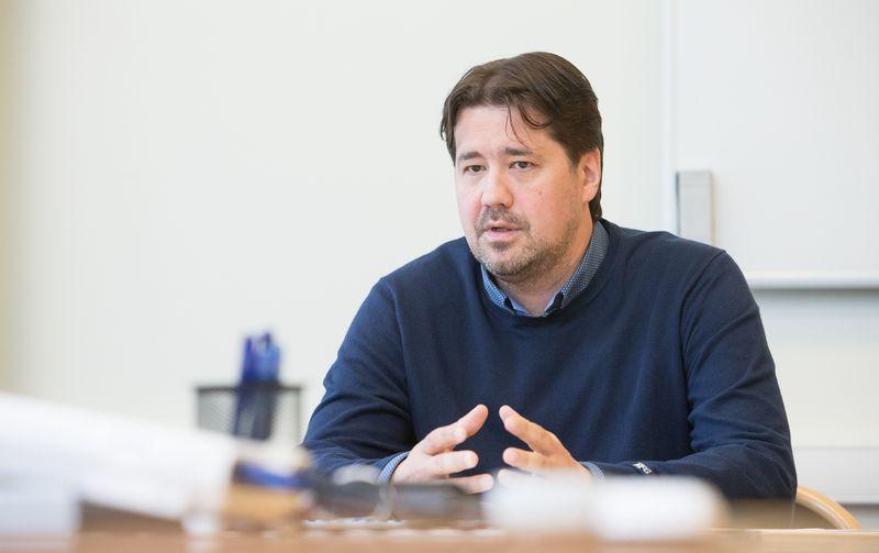 """Tomas Milaknis, """"DocLogix"""" generalinis direktorius. Juditos Grigelytės (VŽ) nuotr."""