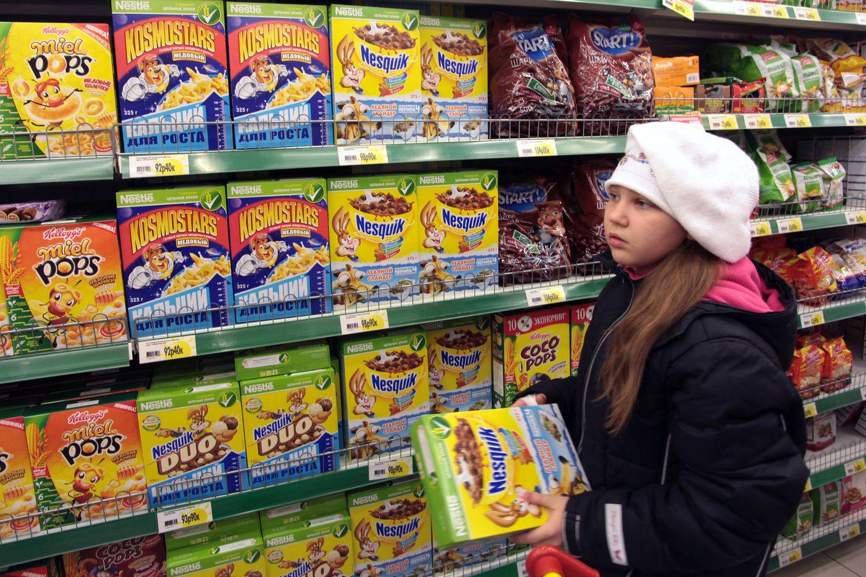 Nusitaikė į animacinių filmų personažus ant nesveiko maisto pakuočių