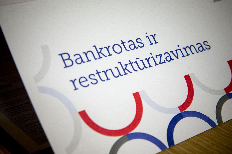 Nuo liepos 1 d. brangsta bankroto bylos iškėlimas