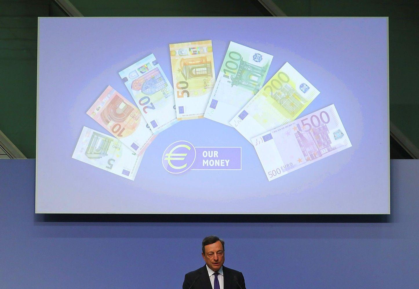 Euras – metų aukštumose sulig Draghi šnekomis
