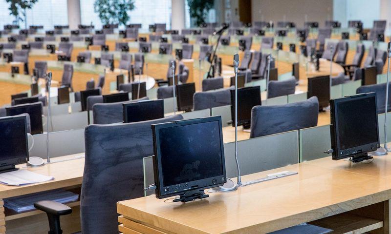 Dar ir kitą savaitę Seimo posėdžių salė neištuštės - pavasario sesija pratęsta iki liepos 13 d. Juditos Grigelytės (VŽ) nuotr.