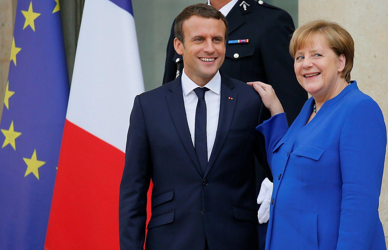 Merkel neprieštarauja Macrono siūlomoms ES reformoms