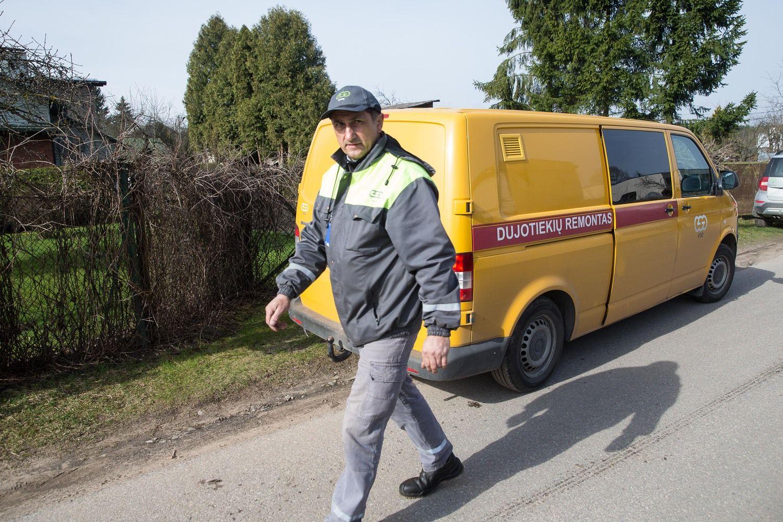 Vilniuje darbininkai pažeidė dujotiekį