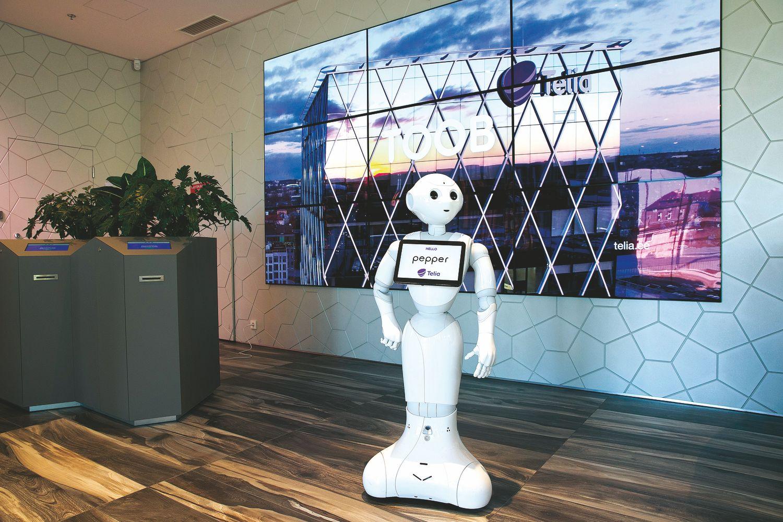"""""""Telia"""" klientus Estijoje aptarnauja robotas"""
