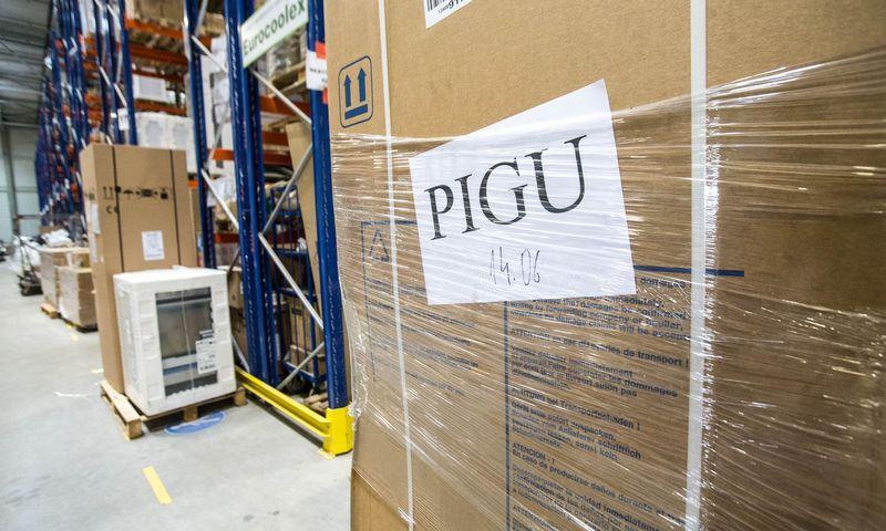 """Internetinę parduotuvę pigu.lt administruojančios UAB """"Pigu"""" sandėlis Vilniuje, Sausupio g. 15. Juditos Grigelytės (VŽ) nuotr."""