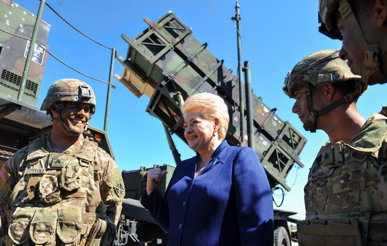 """Prezidentė: Lietuva pasirengusi priimti sistemas """"Patriot"""""""