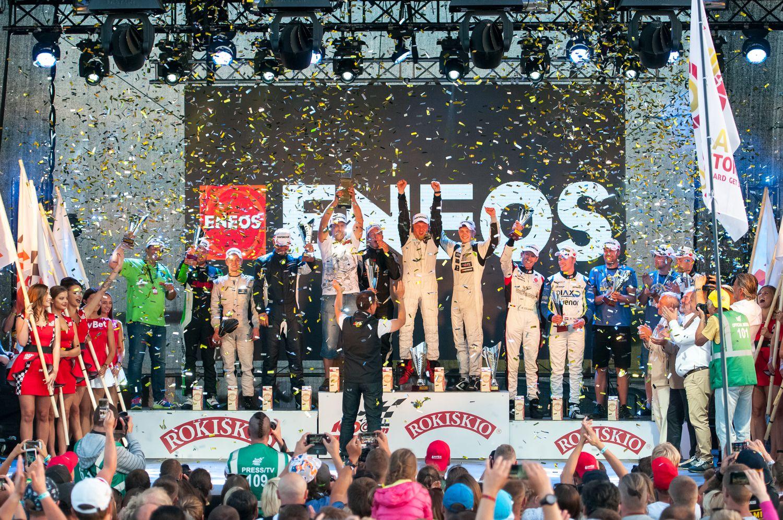 """1.000 km lenktynių finiše - vienas iš dviejų """"Skubos"""" ekipažų"""
