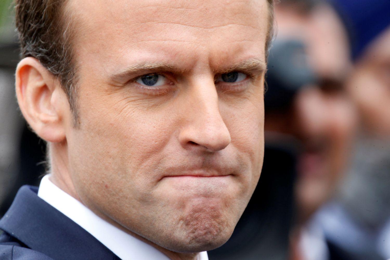 Prancūzijos prezidento Macrono populiarumas smarkiai aptirpo