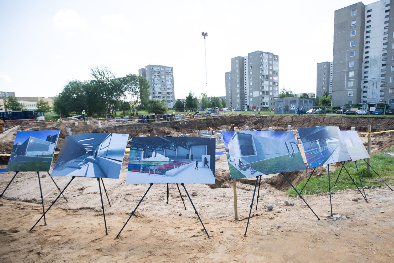 Vilniuje prasidėjo baseino statybos