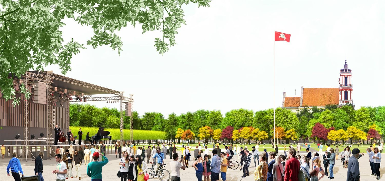 Paskelbti architektai, plėtosiantys Vilniaus Lukiškių aikštės memorialo projektus