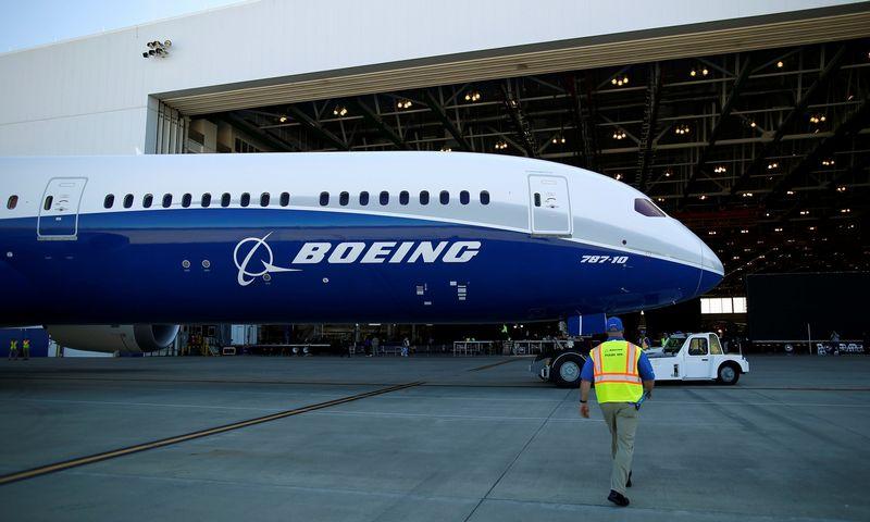 """Boeing"" lėktuvas. Randallo Hillo (""Reuters"" / ""Scanpix"") nuotr."