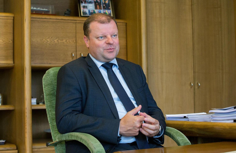 Interviu su premjeru: apie mokesčių pakeitimus, koaliciją ir prezidento rinkimus