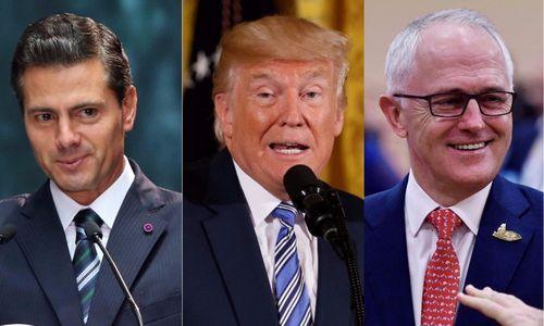 Paviešintos Trumpo, Meksikos ir Australijos lyderių pokalbių išklotinės