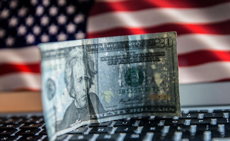 JAV doleris matuojasi 14 mėnesių žemumas