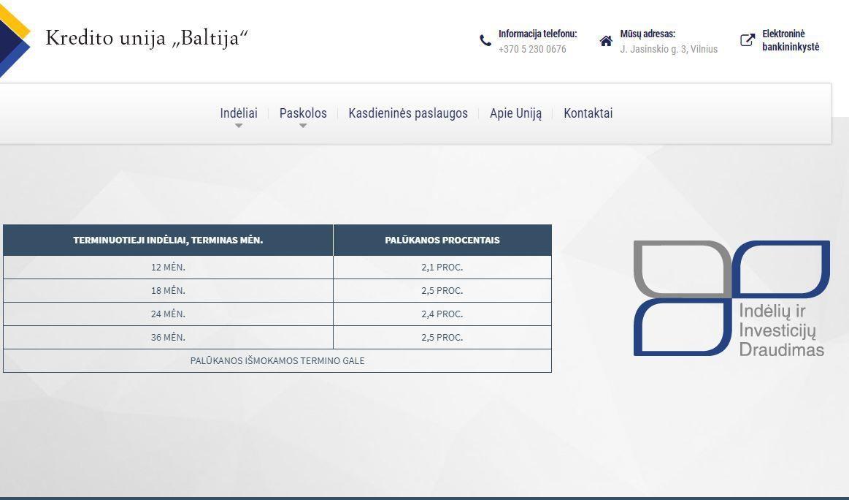 """Perimtas kredito unijos """"Baltija"""" valdymas, įtaria turto iššvaistymą"""
