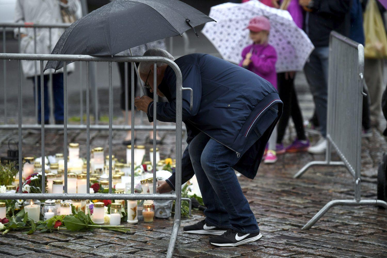 Suomijos policija ataką Turku mieste vadina teroro aktu