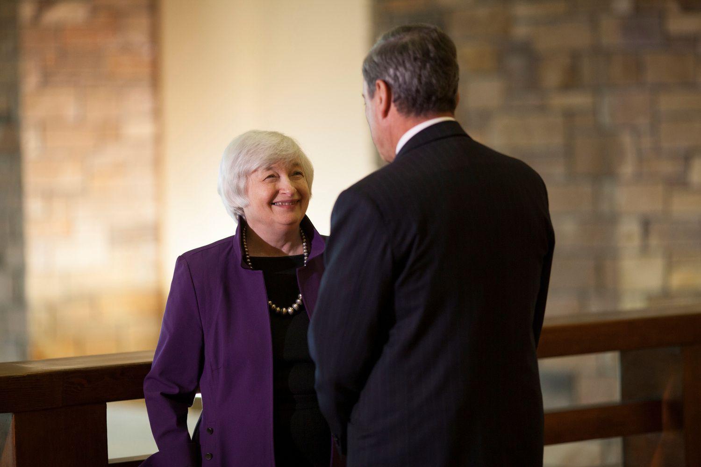 Draghi ir Yellen skaitys svarbius pranešimus