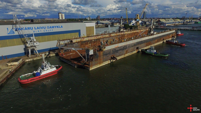 Didžiausias Baltijos šalyse dokas – jau Klaipėdos laivų statykloje