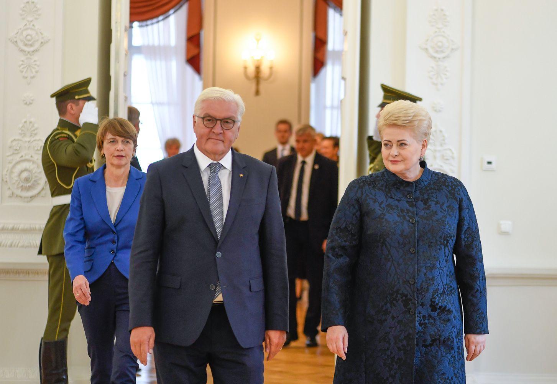 Vokietijos prezidentas Vilniuje išgirdo padėką