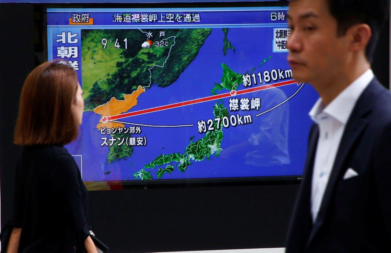 Šiaurės Korėjos raketa perskrido Japoniją