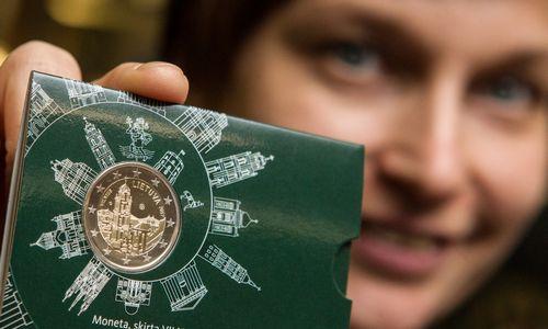 2 Eur monetašlovina Vilnių