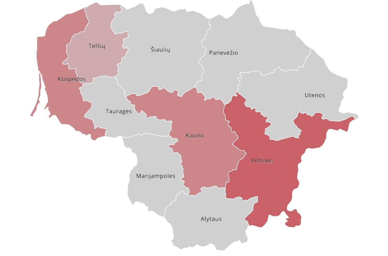 Kur Lietuvoje algos augo sparčiausiai