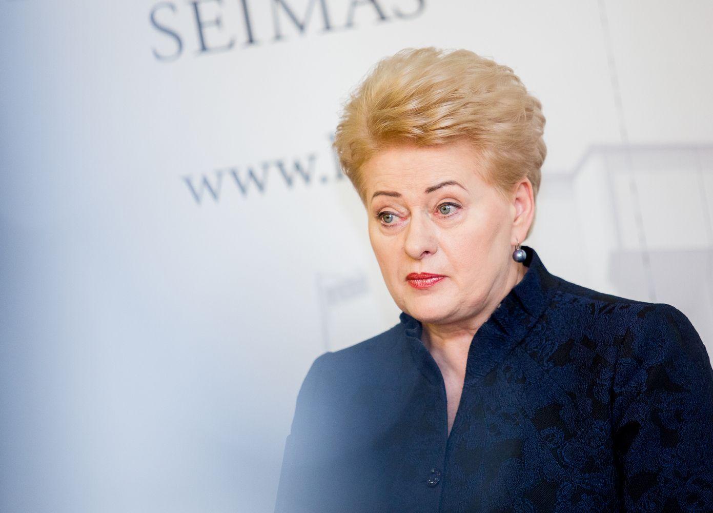 Prezidentė Seimui palinkėjo kalbėtis ir ieškoti kompromisų