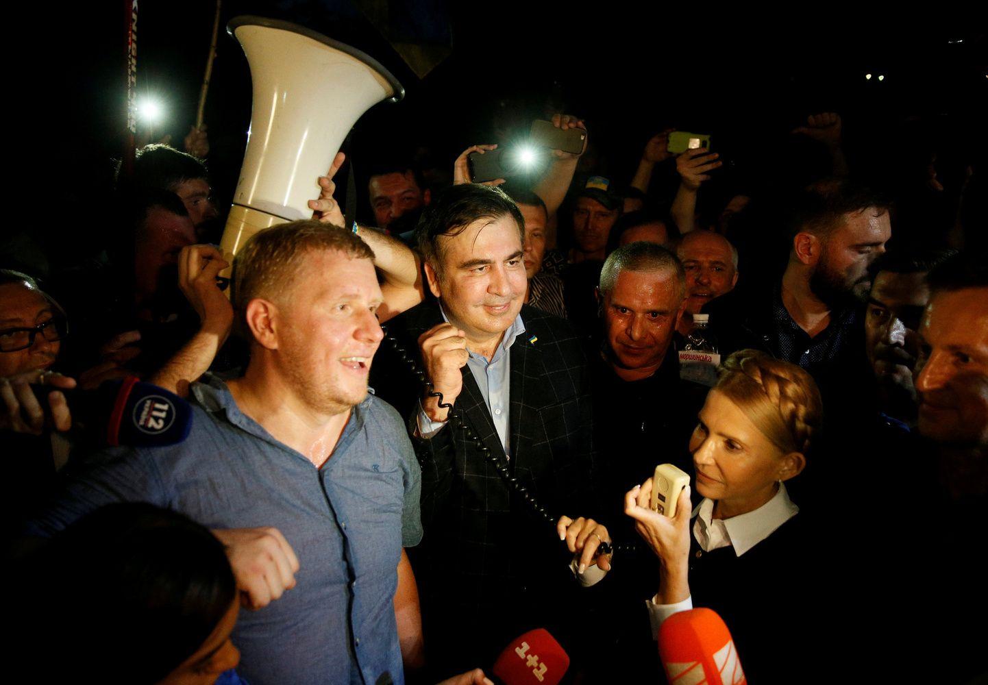 """Saakašvilio šalininkai """"įnešė"""" pilietybės neturintį politiką į Ukrainos teritoriją"""