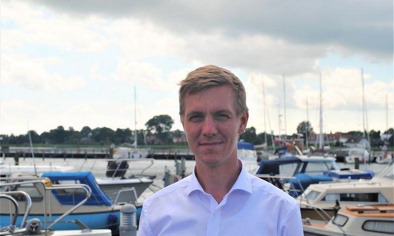 """Christianas Elkrogas, jachtų stovėjimo vietos rezervavimo programėlę """"Harba"""" sukūrusį startuolį valdančios Danijoje registruotos """"Harba ApS"""" vadovas. Bendrovės nuotr."""