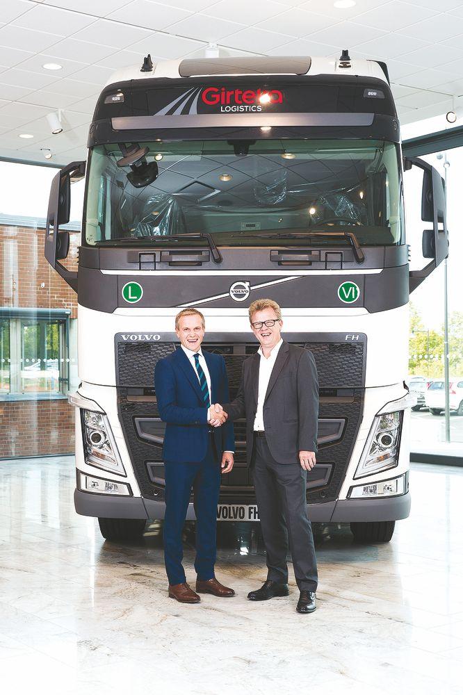 """""""Girteka Logistics"""" perka 2.000 naujų """"Volvo"""" vilkikų"""