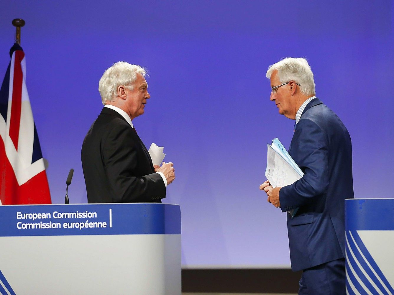 """Ketvirtasis """"Brexit"""" derybų etapas bus atidėtas"""