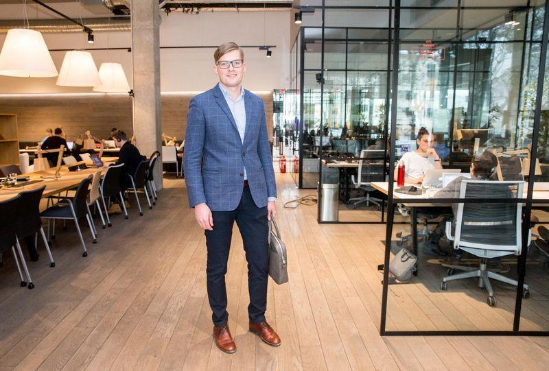 """Audrius Griškevičius, """"FinBee Verslui"""" vadovas: """"Pavyzdžiui, turime investuotojų, kurie vienu ypu skolina ir 10.000 Eur"""". Juditos Grigelytės (VŽ) nuotr."""