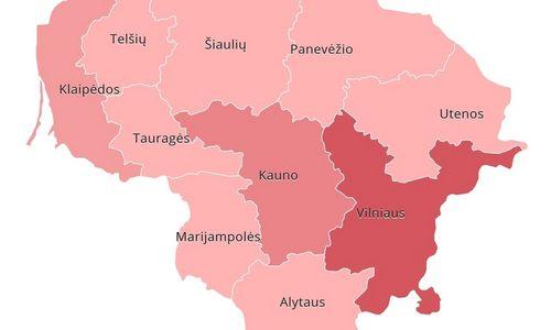 Prekyba pagal apskritis: trečdalis mažmeninės apyvartos – Vilniuje