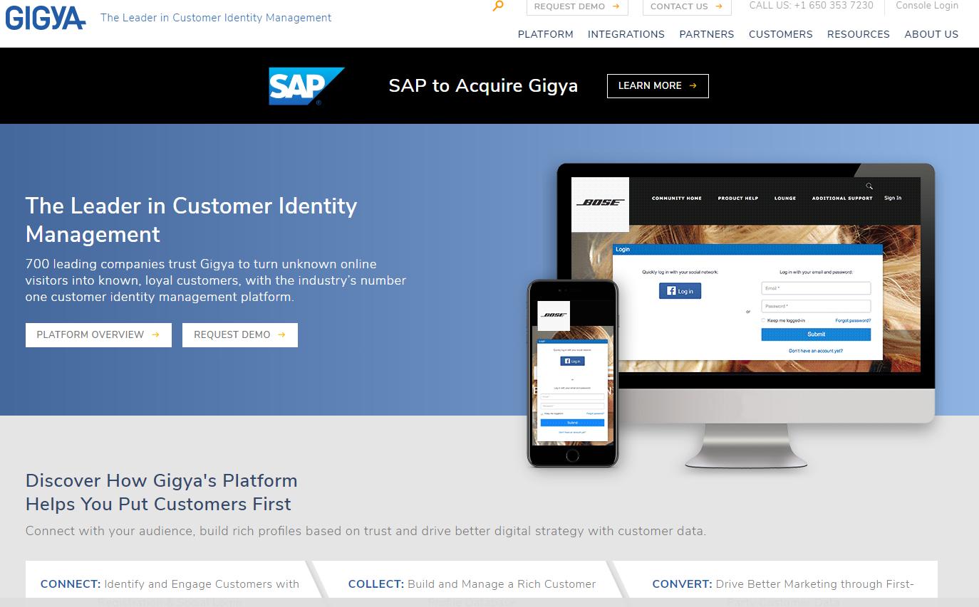 SAP perka vartotojų atpažinimo bendrovę už 350 mln. USD
