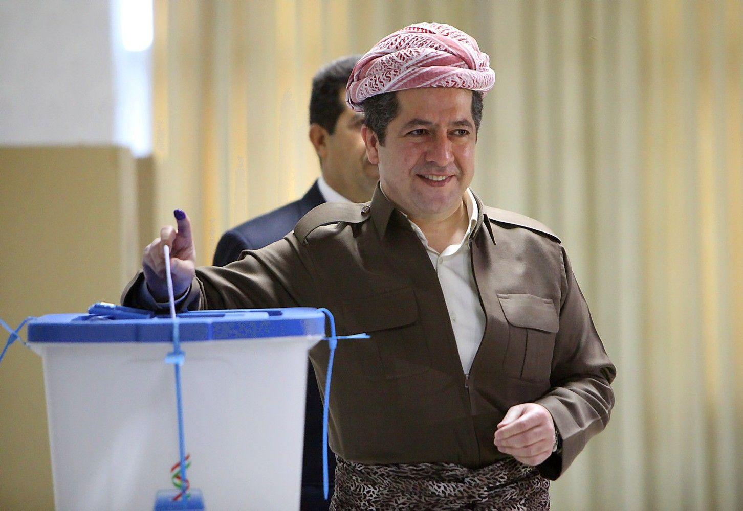 Irako kurdai balsuoja dėl nepriklausomybės, kaimynės didina spaudimą