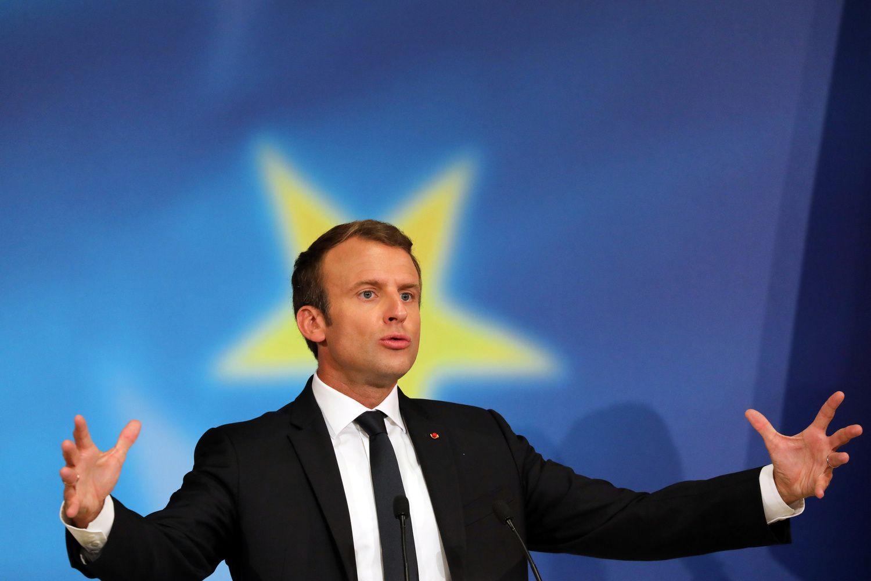 Macrono ambicijos nemažėja: rodo kryptį visai ES