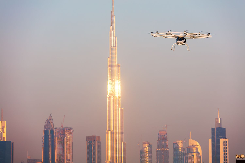 Virš Dubajaus išbandytas bepilotis keleivinis dronas