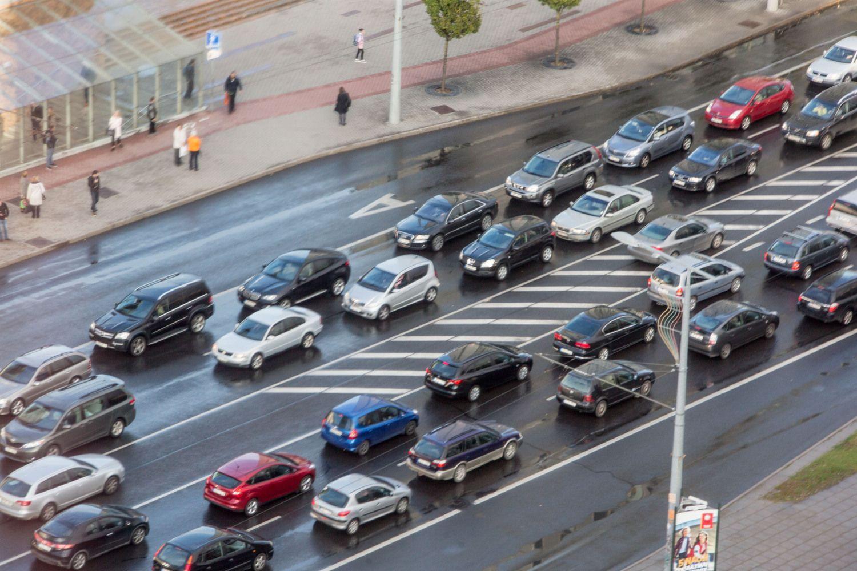 Prezidentė pritarė siūlymui neatimti teisės vairuoti kirtus ištisinę liniją