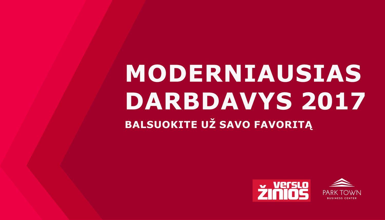 """Konkursas """"Moderniausias darbdavys 2017"""": prasideda balsavimas"""