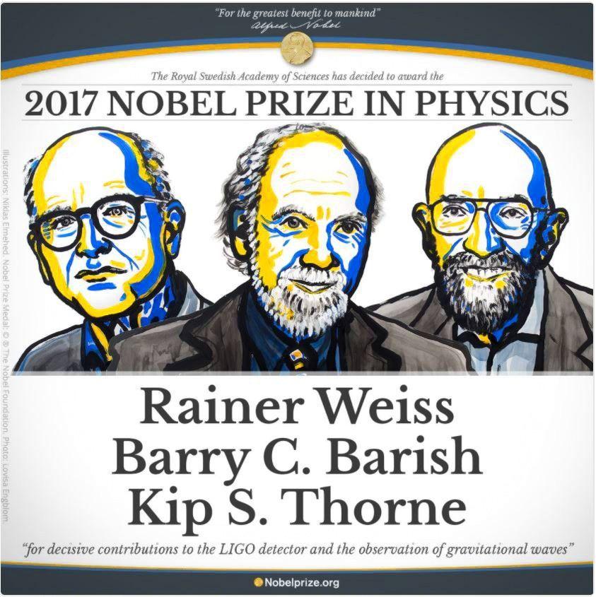 Fizikos Nobelis – už aptiktas gravitacijos bangas