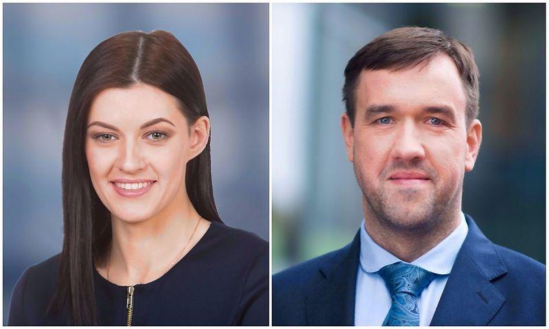 """Stela Andriuškaitė, advokatų profesinės bendrijos ,,iLAW"""" teisininkė ir dr. Vilius Mačiulaitis advokatų profesinės bendrijos  """"iLAW"""" partneris, advokatas."""